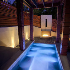 contemporary pool by Faust Construction