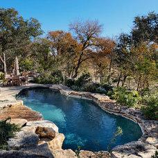 Rustic Pool by Matt Sitra Custom Homes