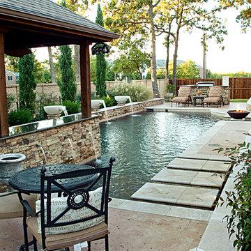 Dry Stack - Custom Swimming Pool - North Richland Hills, TX