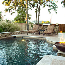 Rustic Pool by One Specialty Landscape Design, Pools & Hardscape