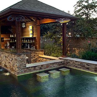 Rustic swimming pool in Dallas.