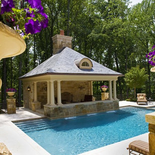 Example of a pool house design in DC Metro