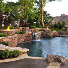 Traditional Pool by J. Brownlee Design