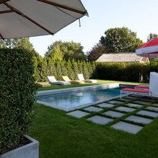 Traditional Pool by James McAdam Design