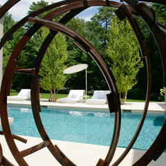 modern pool by Betty Wasserman