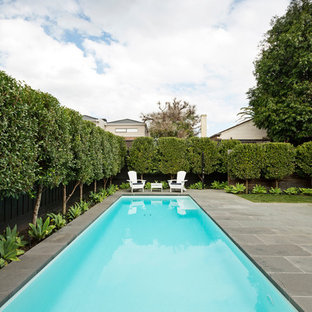 Inspiration for a traditional rectangular lap pool in Melbourne.