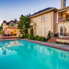 Traditional Pool by Cornerstone Construction Services LLC