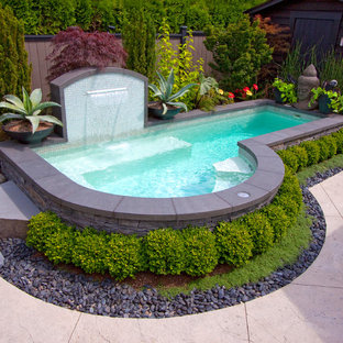 Inspiration for an eclectic custom-shaped pool in Vancouver.