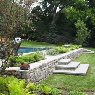 Eclectic rectangular pool photo in New York