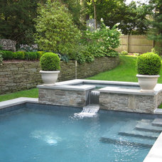 Contemporary Pool by edgewater design llc