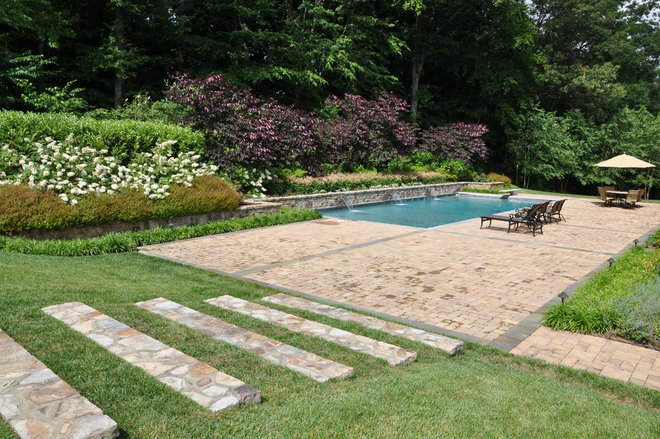 Traditional Pool by McHale Landscape Design, Inc.