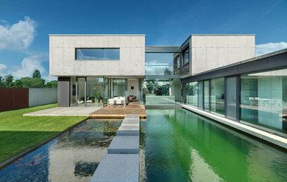 Architektur: Ein Atriumhaus mit 15 Meter langem Schwimmteich