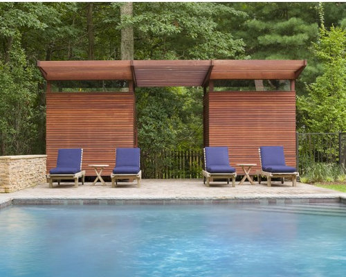 Pool changing room houzz for Pool equipment design