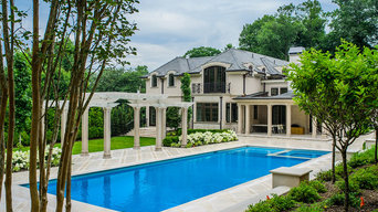 Elegant and Classic Pool with Pergola