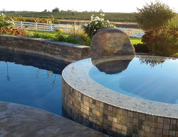 Elegant Ranch pool, infinity spa and landscape