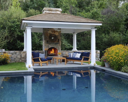 Pool gazebo houzz for Garden cabana designs