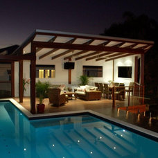Contemporary Pool by Empire Design & Drafting