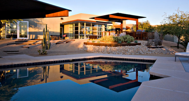 Contemporary Pool by 180 degrees