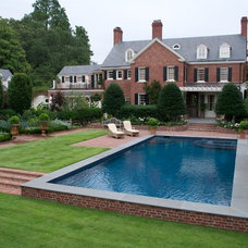 Traditional Pool by Bruce Clodfelter and Associates