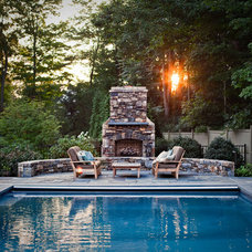 Traditional Pool by Odd Job Landscaping
