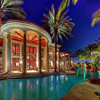 Mediterranean Pool by W.A. Bentz Construction, Inc.