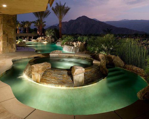 Lazy River Swimming Pool Designs master pools guild residential pools and spas natural gallery backyard lazy riverlazy Example Of An Island Style Custom Shaped Pool Design In Los Angeles