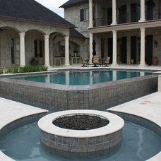Traditional Pool by Ewing Aquatech Pools