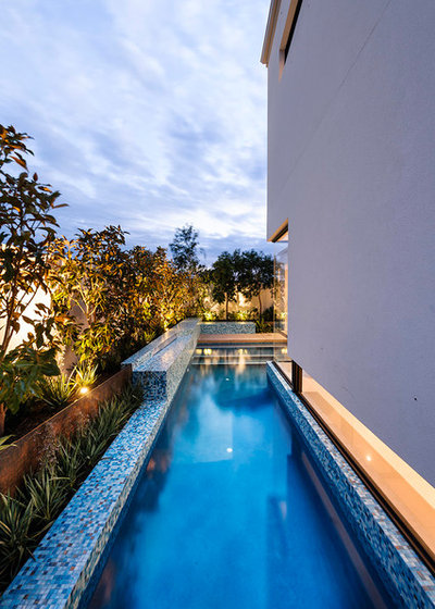 Contemporary Pool by Webb and Brown-Neaves