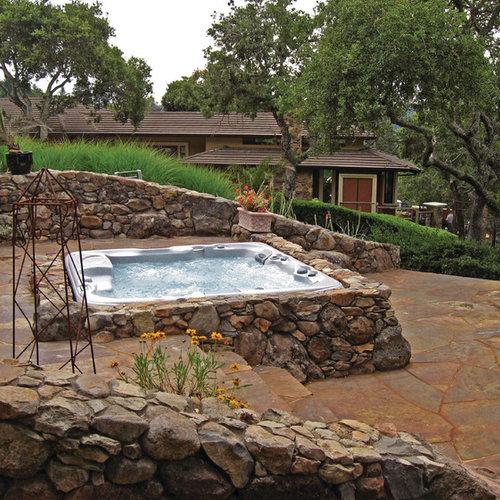 Foto e idee per piscine piscina fuori terra in campagna for Pavimentazione per piscine fuori terra
