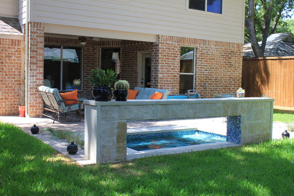 Eclectic Pool by One Specialty Landscape Design, Pools & Hardscape
