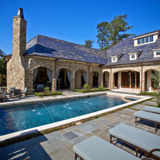 Traditional Pool by Allan Edwards Builder Inc
