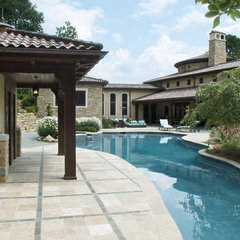 mediterranean pool by RWA Architects