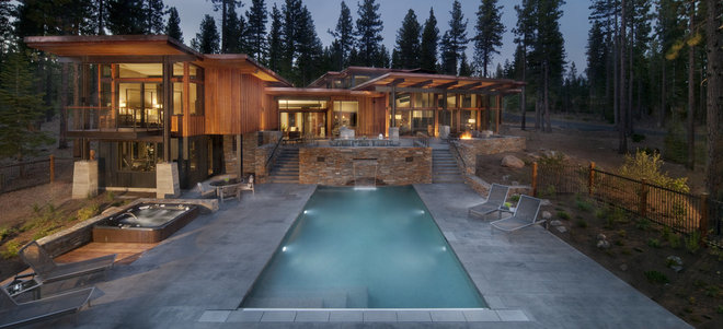 Contemporary Pool by Ward-Young Architecture & Planning - Truckee, CA