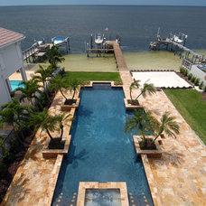Modern Pool by Veranda Homes