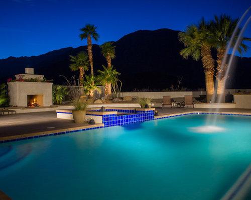 hot tub southwestern backyard concrete and rectangular lap hot tub idea in phoenix - Backyard Pool Ideas