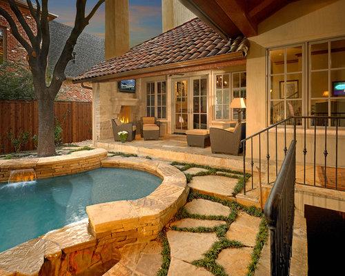 Pool Designs For Small Backyards ad small backyard pool 7 Small Mediterranean Pool Idea In Dallas Houzz