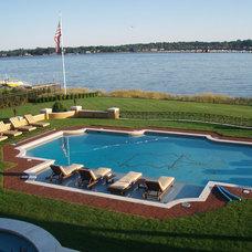 Traditional Pool by Agape Tile LLC