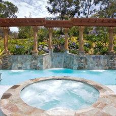 Mediterranean Pool by So-Cal Custom Pools & Spas