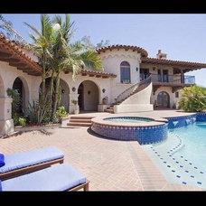 Mediterranean Pool by Elevation Architectural Studios