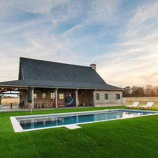 Inspiration for a rustic pool remodel in Other