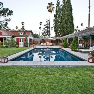 Inspiration for a country rectangular pool in Los Angeles.