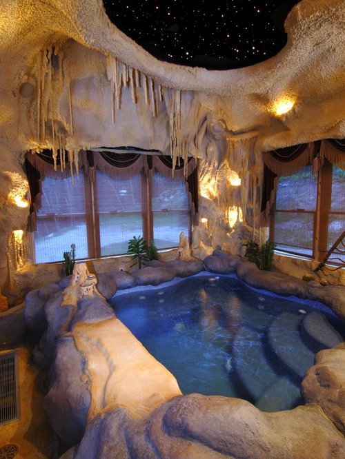 Inside Pool Cave cave hot tub | houzz