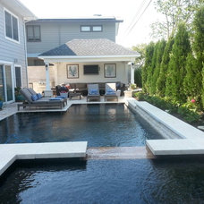 Contemporary Pool by Jersey Pools and Spas