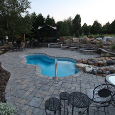 Eclectic Pool by San Juan Pools of Charlotte
