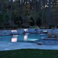 Traditional Pool by Gibbons Pools Inc.