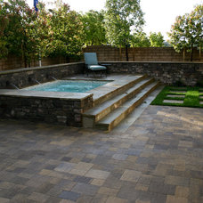 Traditional Pool by Legacy Builders