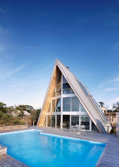 Contemporain Piscine by Bromley Caldari Architects PC