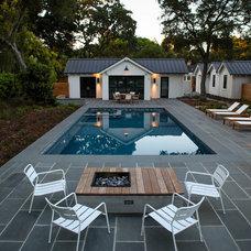 Farmhouse Pool by Terra Ferma Landscapes