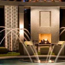 Modern Pool by Bennett Design & Landscape