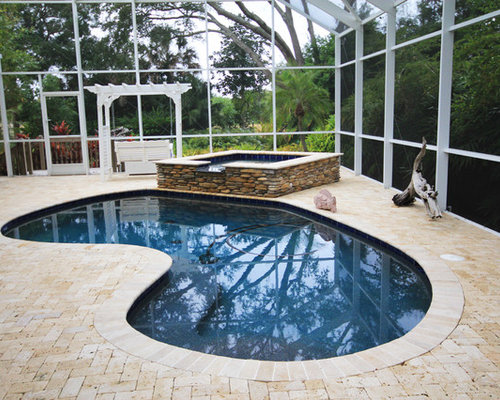 Eclectic Kidney Shaped Pool Design Ideas Renovations Photos